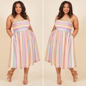 ModCloth Purposefully Piquant Midi Dress | SZ 3X